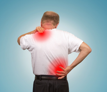 Back and Shoulder pain problems. Massage
